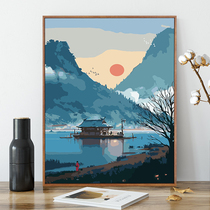 北欧沙发后背办公室抽象油画客厅装饰画【艺术波普】客厅当代画