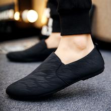 懒人鞋 男老北京布鞋 社会小伙鞋 潮鞋 2019夏季韩版 百搭个性 豆豆鞋图片