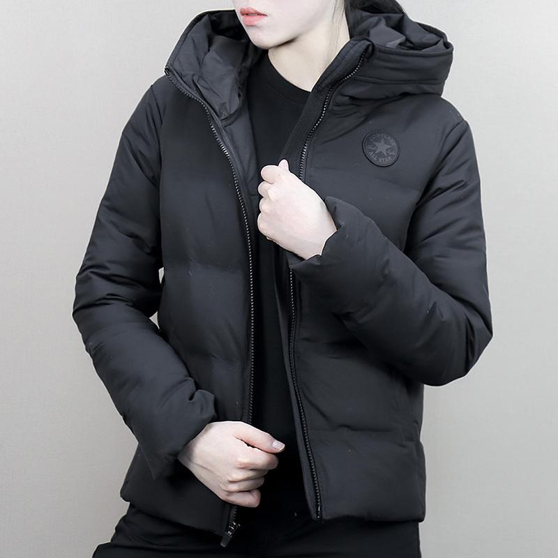 匡威女棉服2018冬季新款保暖外套防风运动服休闲羽绒服10004549
