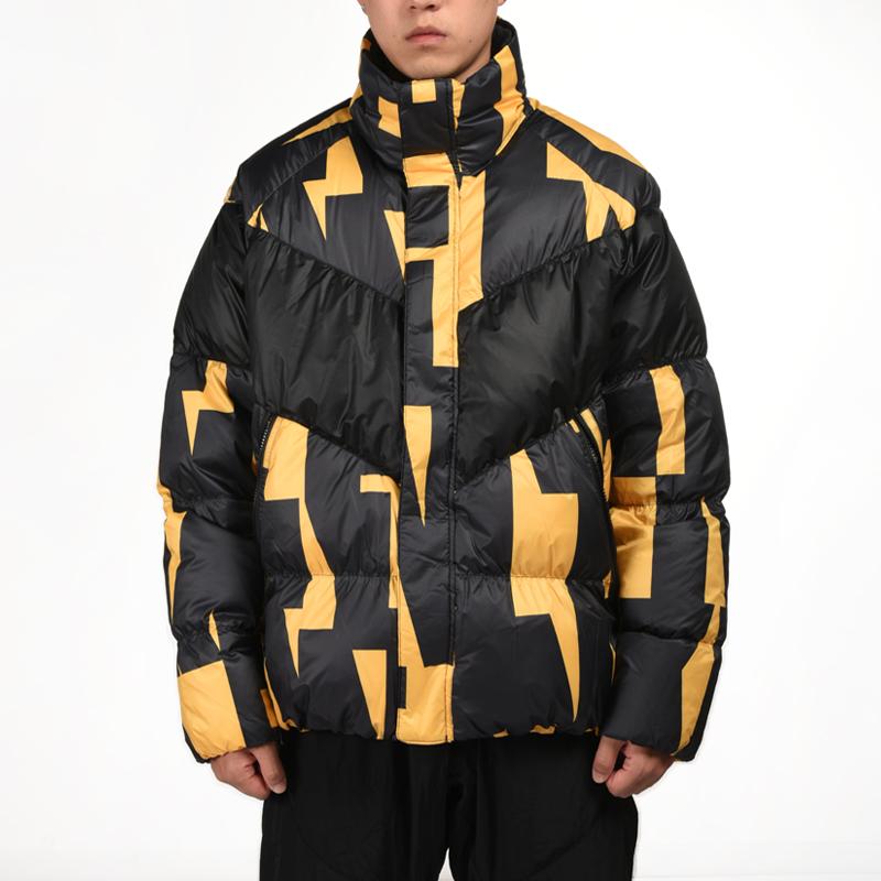 Nike耐克羽绒外套男装2018冬季保暖防风黑黄运动羽绒服928890-752