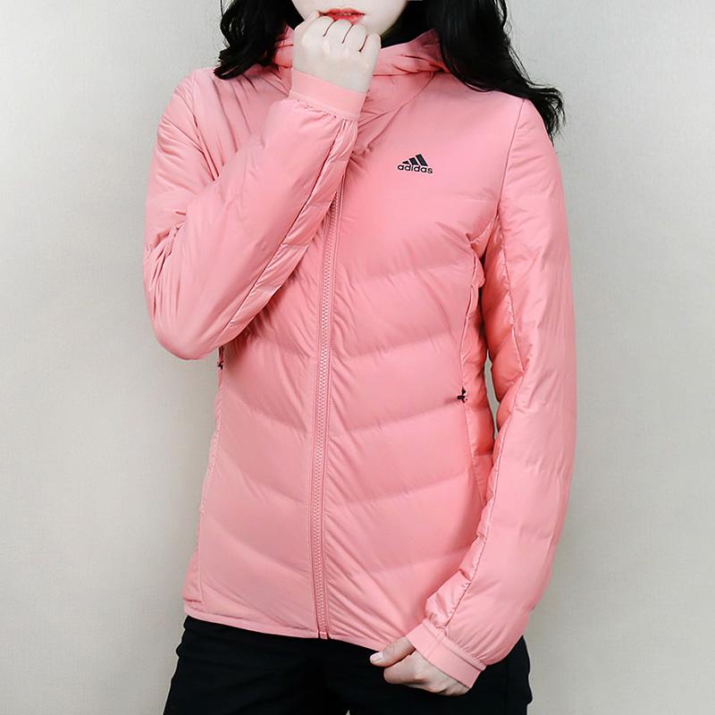 阿迪达斯羽绒外套女装冬季保暖防风户外运动羽绒服BQ8739