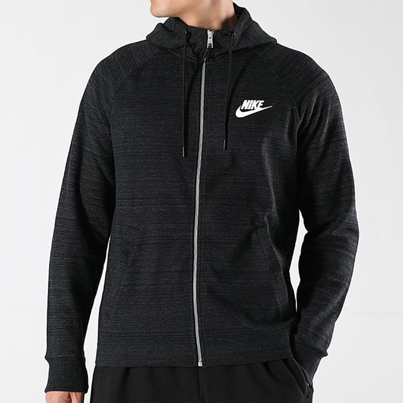Nike耐克运动服套装男装2019春秋休闲套装连帽夹克外套小脚裤长裤