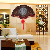 Chinese style living room wall clock atmosphere classical art solid wood quiet overlord watch light luxury Chinese household quartz clock