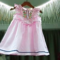 Call number link children's summer embroidered dress girl