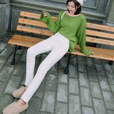 Winter new product Slim white duck down pants women wear small fragrance boots pants Slim pencil pants were thin cotton pants tide