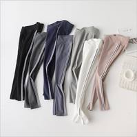 Pregnant women leggings in the thick small feet pregnant women nine pants low waist maternity dress cotton large size stomach lift pants wear autumn