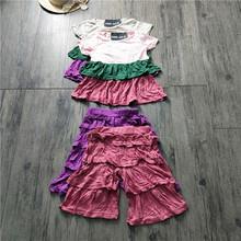 两件套夏季新款童装短袖圆领多层T恤+松紧腰裤子套装-八@T-3/4-3