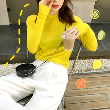 FAN 2009 Spring and Summer New Designer's Great White and Foreign Yellow Knitted Blouse