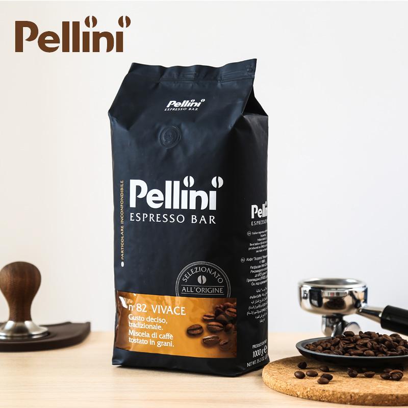 ✅意大利原装进口Pellini拼配咖啡豆 82号 深度烘焙意式浓缩 1KG