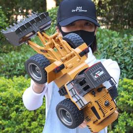无线遥控推土机合金工程汽车铲车儿童电动玩具充电挖沙土挖掘男孩图片