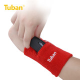 All cotton towel wrist guard zipper wrist band sweat-absorbing sweat towel tennis volleyball basketball common