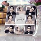 九宫格相框婚纱照摆台韩式创意个人挂墙儿童婚纱照定制相框挂画