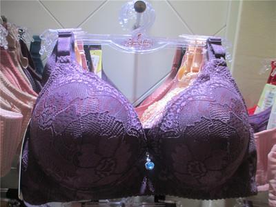 真品瑩嫦463聚攏無鋼圈上薄下厚文胸B罩杯蕾絲邊調整型收副乳胸罩