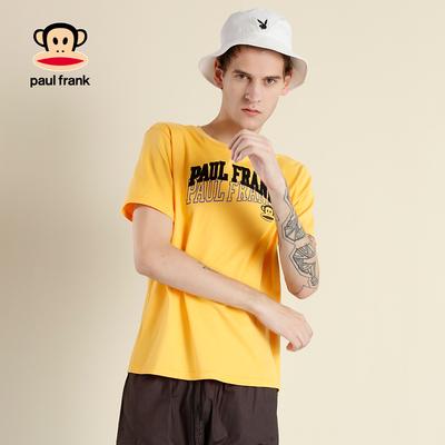 [商场同款]Paul Frank/大嘴猴2018夏季新品男时尚字母短袖T恤