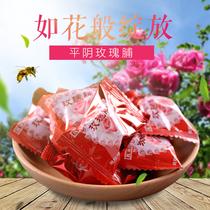 克袋装天源玫瑰饴500平阴特产含玫瑰花瓣玫源水晶玫瑰软糖玫瑰脯