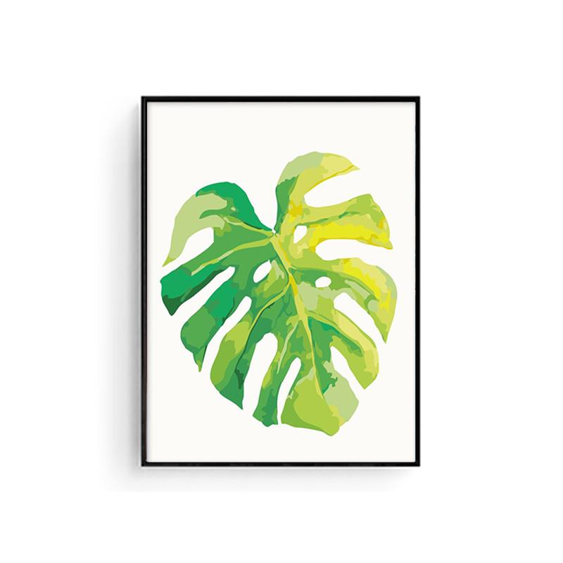 御梦diy数字油画客厅风景花卉现代简约手工绘填色油彩装饰画绿植