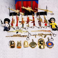 Eat chicken toy Jedi survival model hand 98K three-level head full set of weapons gold limited edition mini pendant