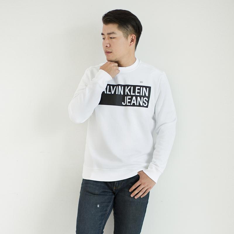 美中购物车Calvin Klein 男士休闲长袖卫衣上衣简约常青秋季新款