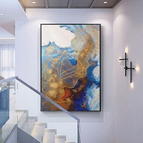 抽象油画手绘玄关装饰画竖版走廊过道现代简约别墅大幅定制挂壁画