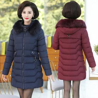冬季羽绒棉衣服女装棉服中长款冬天棉袄子外套30到35多40岁45穿25