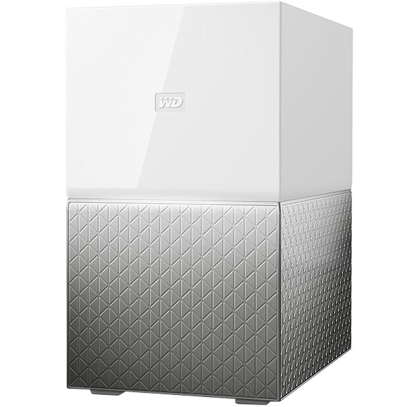 WD/西部数据My Cloud Home Duo 4TB智能存储管家 个人云盘云存储 RAID模式 无线网络硬盘