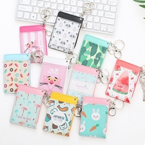 South Korea cute fresh hanging neck card package traffic card sets of access control card sets of work card folder purse hook card sets