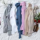 包芯纱高领针织打底衫 毛衣 长袖 39.9两件针织衫 福利特价 修身图片