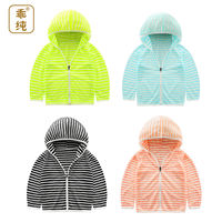 Children's clothing children's sun protection clothing outdoor clothes boys and girls baby ultra-thin breathable sun protection clothing summer coat skin clothing