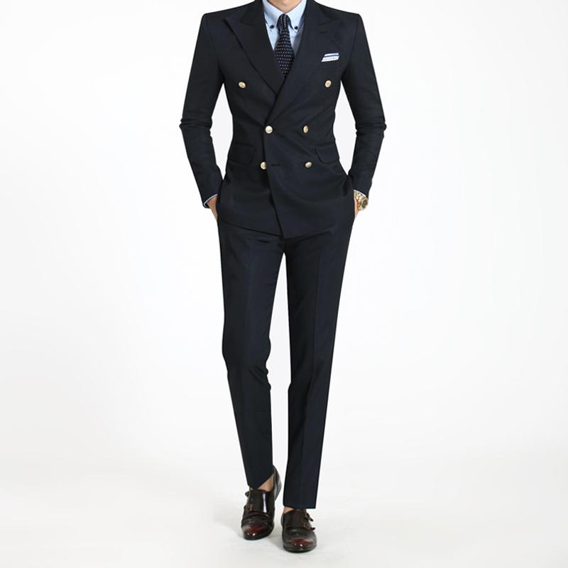 韓版西裝男雙排扣