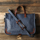 Retro first layer cowhide handbag leather original tide men's bag slant diagonal travel business cross section briefcase