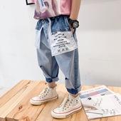 2019新款夏装儿童装韩版男童个性破洞牛仔裤中大童休闲潮裤七分裤