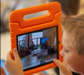 苹果ipad pro 12.9寸保护套 EVA硅胶手提外壳 儿童小孩防摔平板套