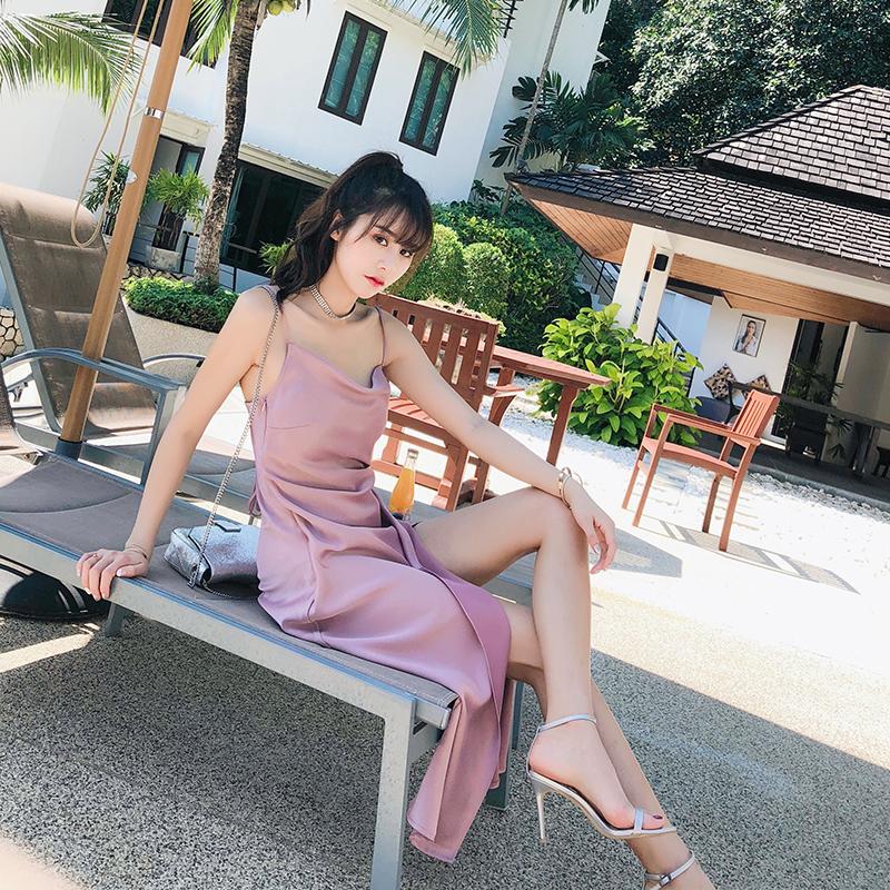 粉色性感裙子