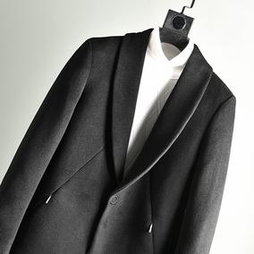 好货不多说,量少一波清!55羊毛冬季中长款修身男士羊毛呢子大衣