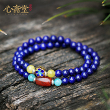 Xinzhaitangding Natural No Optimized Afghan Emperor Qing5A Bluestone Hand String South Red Buddha Bead Bracelet