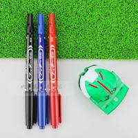 Golf equipment accessories line drawing pen line black red blue scriber oily note pen