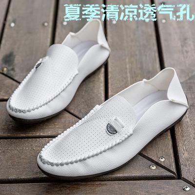 春夏季新款男士豆豆鞋韩版一脚蹬平底透气单鞋潮流懒人男鞋休闲鞋