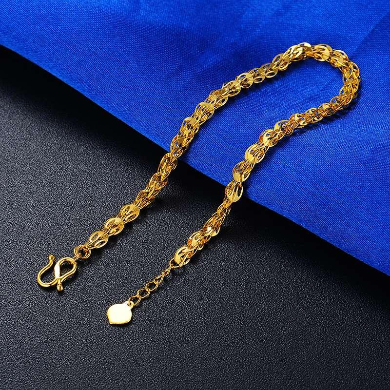 黄金凤尾手链