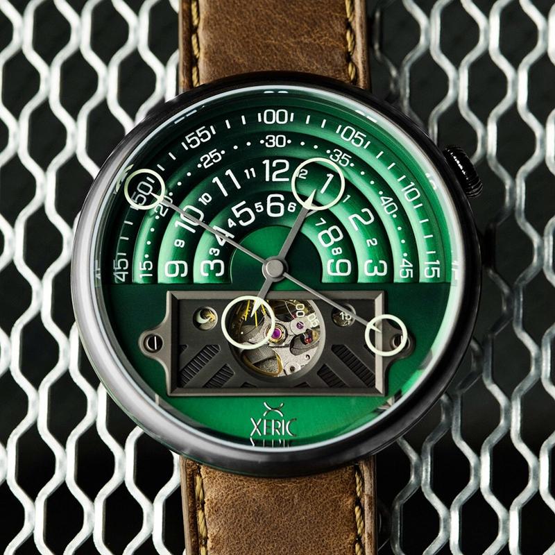 正品Xeric Halograph II全新限量版夜光男创意表自动机械手表
