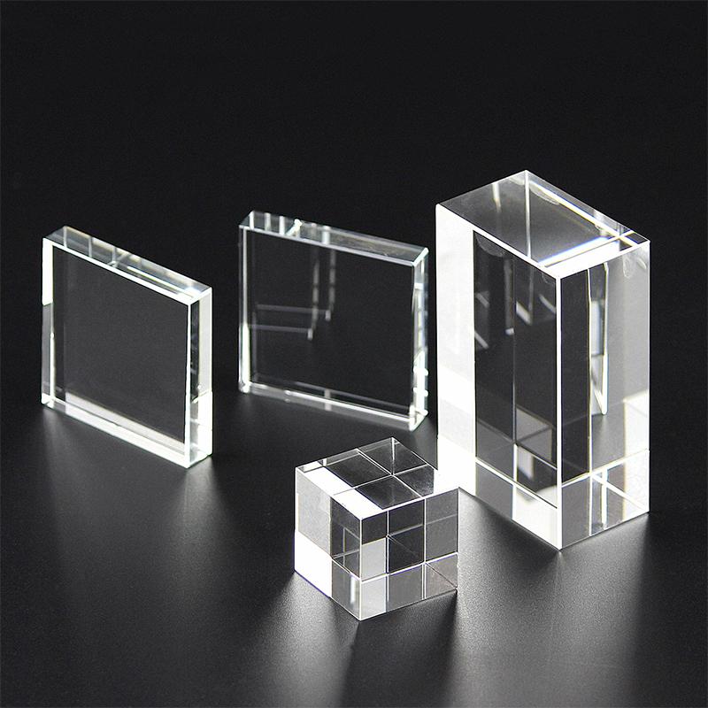 K9人造水晶方體方塊長方形立方體玻璃水晶底座定制3D內雕刻字logo
