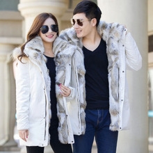 Winter new Korean version of young couples down jacket fashion large collar men and women in medium and long down jacket trend