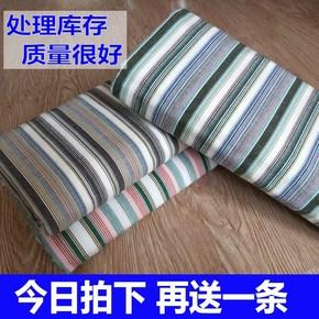 不起球 优质纯棉手工老粗布床单加厚单件条纹单双人1.2/1.5/1.8m