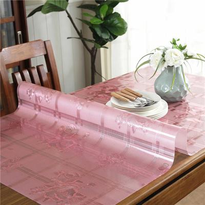 软玻璃彩色PVC水晶桌布防水防油防烫免洗金色餐桌垫水晶版长方形