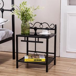 简约铁艺床头柜环保烤漆钢管书架欧式宾馆铁艺柜子