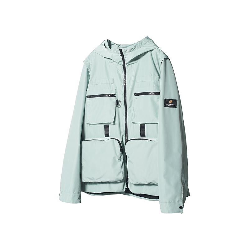 【FLAM官方网店】嘻哈潮牌国潮 多口袋机能可拆卸战术套装情侣装