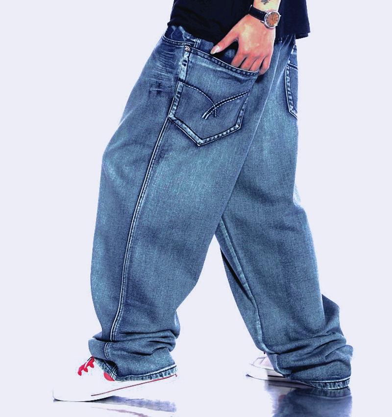 滑板裤牛仔男裤