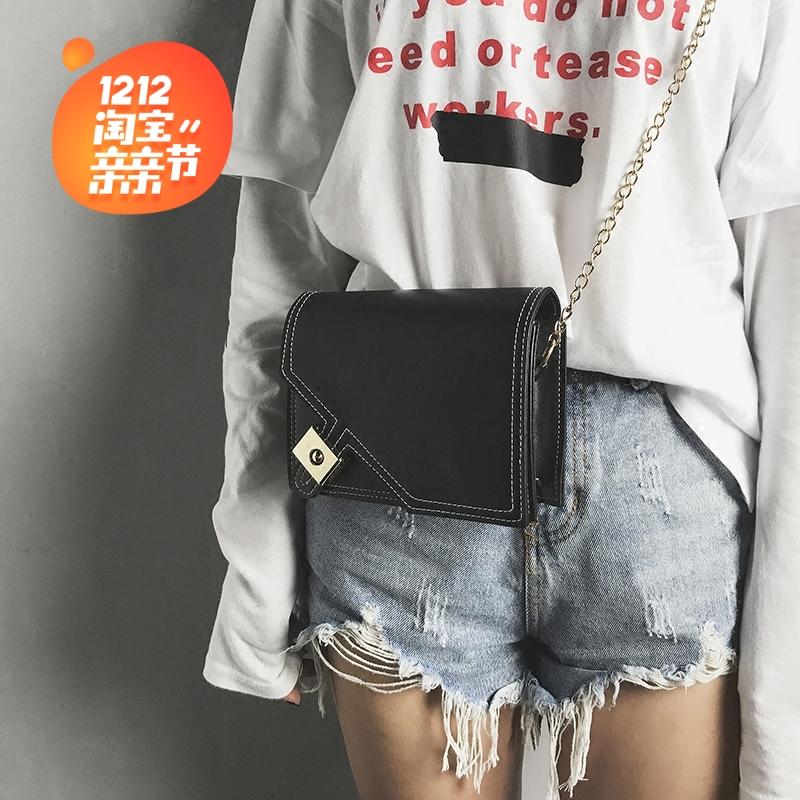 夏天小包包2017新款时尚女包简约百搭迷你链条包小方包单肩斜挎包