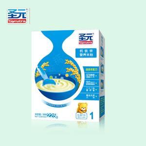 【4盒包邮】18年2月 225g 圣元钙铁锌营养米粉1段 宝宝米糊辅食