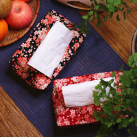 Original Japanese hot stamping fabric paper towel set paper towel bag paper bag car tray paper towel package tissue box