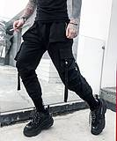Guochao casual pants male Korean version of the trend BF high street wind black hip-hop beam foot overalls cargo pants male tide